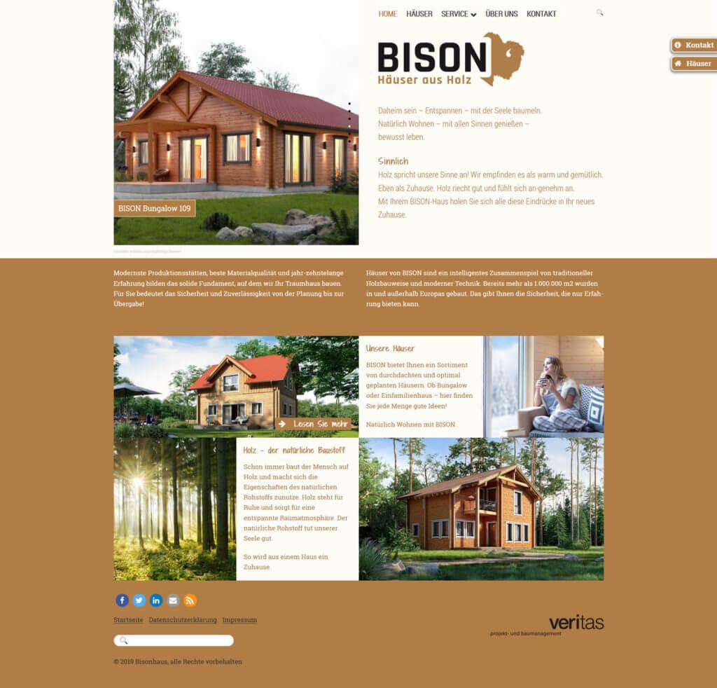 Bisonhaus - Häuser aus Holz